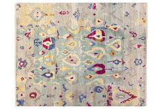 """8'1""""x10' Sari Wool Michelle Rug, Multi"""