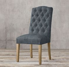 RH's Bennett Camelback Fabric Side Chair:Defined by its graceful curves and…