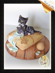 Cat Cakes, Birthday Cake For Cat, Food Art For Kids, Pet 1, Animal Cakes, Novelty Cakes, Sugar Art, Fondant Cakes, Creative Cakes