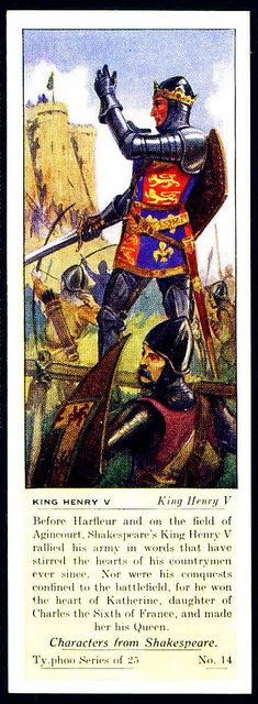 Typhoo Tea Card - King Henry V by cigcardpix, via Flickr