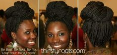 Protective srylin' box braid updo