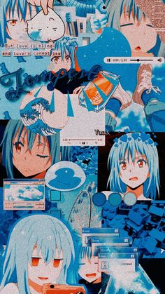 Chica Anime Manga, Anime Neko, Kawaii Anime, Anime Art, Slime Wallpaper, Kawaii Wallpaper, White Aesthetic, Aesthetic Anime, Aesthetic Iphone Wallpaper