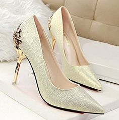 Elegant Stylish Womens Pointy Toe Shlip On High Heels Stilettos Party Chic Shoes in Clothing, Shoes & Accessories, Women's Shoes, Heels Lace Up High Heels, Leather High Heels, High Heels Stilettos, High Heel Boots, Womens High Heels, Women's Pumps, Stiletto Heels, Tassel Heels, Buckle Boots