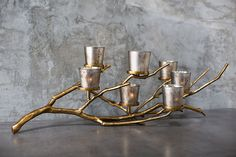 WILDWOOD BRANCH CANDLEHOLDER IN 2 COLORS