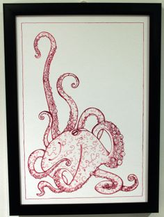 Giclee Octopus Print of Original Ink by TheIllusiveEye on Etsy, £10.00