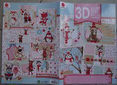 Magazine 3D Carterie/scrapbooking pour la réalisation de 14 Cartes de Noël : Papeterie, carterie par happy-scrap-arts