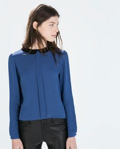 ZARA - WOMAN - BLOUSE WITH CONTRASTING COLLAR