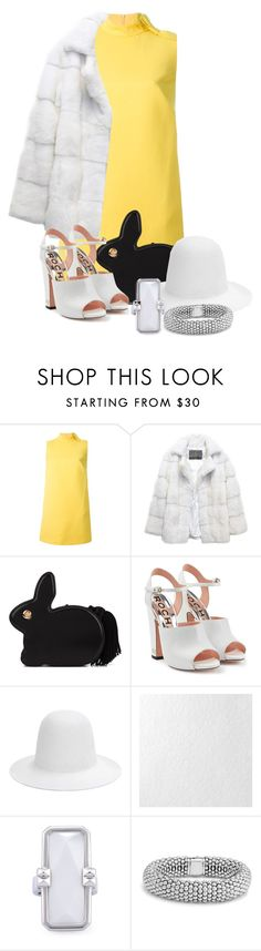 """""""WtP: Rabbit"""" by darksyngr ❤ liked on Polyvore featuring RED Valentino, Lilly e Violetta, Hillier Bartley, Rochas, Gucci, Graham & Brown, Altruis by Vinaya and Lagos"""