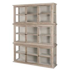 Oak Bookcase with Doors Inspirational Agathe French Country Rustic Oak Glass Vitrine Bookcase With Glass Doors, Glass Shelves, Wall Shelves, Buffet, Country Kitchen Designs, Country Furniture, Timber Furniture, Office Furniture, Painted Furniture