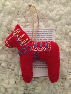 Dala Horse (Dala Häst) Christmas Tree Ornament.