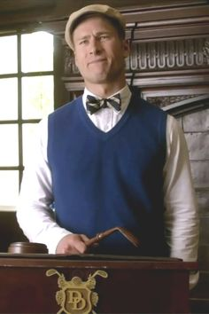Chad Radwell wearing  Brooks Brothers Cashmere Sweater Vest, Brooks Brothers Bicycle Embroidered Garment-Dyed Chinos