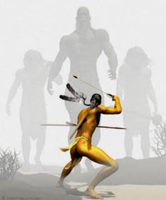 Muchas tribus nativas del noreste y el suroeste todavía relatan leyendas de los gigantes de pelo rojo y de cómo sus antepasados lucharon prolongadas y terribles guerras contra los gigantes al encontrárselos por primera vez en América del Norte hace casi 15.000 años.