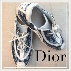 Dior sneakers (AUTHENTIC) Adorable Dior sneakers barely worn size 6 but fits like 6.5. Very stylish and comfortable. Dior Shoes Sneakers