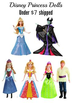 Color changing Anna and Brier Rose dolls as well as 2 doll sets with Anna and Kristoff or Maleficent and Sleeping Beauty! Get sets of 2 for Under $11 shipped, or single dolls for under $7!