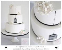 Julia and Josh's Wedding Cake