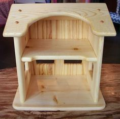 Wooden Dollhouse made by Heartwood Natural Toys. $70.00, via Etsy.
