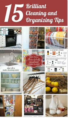 15 brilliant cleaning and organizing tips | Hometalk