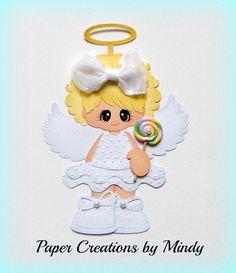 ELITE4U lollipop girl kid summer premade paper piecing scrapbooking page angel ~ Paper Creations by Mindy