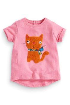 Girls short sleeved T-shirt cotton baby half sleeve 2016 Summer boy cat coat Fashion Kids, Latest Fashion For Women, Next Clothing Kids, Girl Clothing, Girls Blouse, Summer Boy, Pink Cat, Sport, Short Girls
