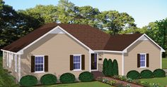 While spacious and versatile, the design of this Cottage style home keeps its lines clean, ensuring an affordable build.  House Plan # 731070.