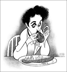 """CHARLIE CHAPLIN Hand Signed by Al Hirschfeld, """"The Gold Rush,"""" Technicolor Edition"""