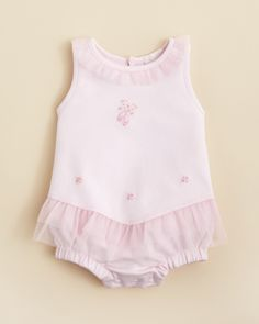 Kissy Kissy Infant Girls' Pirouette Ruffle Bubble features a lady-like flounce of tulle for a special gift