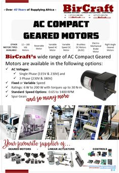 Compact Geared Motors  Automated Doors / Automation / Conveyors / Dental / Feeders / Graphics / Lab Equipment / Labelling Equipment / Measuring / Medical / Mixers & Stirrers / Photographic / Printing / Precision / Turntables / Vending & Dosing Equipment and many more.  #BirCraft #ac #dc #gears #motors #compact Linear Actuator, Motor Speed, Lab Equipment, Gear S, Mixers, Ac Dc, Dental, Compact, Printing