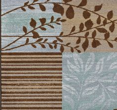 Modern 8x10 Area Rug Contemporary CARPET Blue/Brown Branch 8x10 8x11 Box  Vines