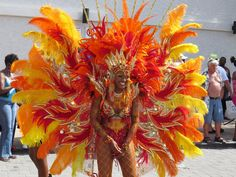 From St. Rio Carnival Costumes, Caribbean Carnival Costumes, Carnival Booths, Mardi Gras Carnival, Carnival Ideas, Royal Ballet, Fire Costume, Samba Costume, Crazy Costumes