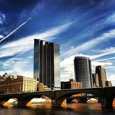 Free Shipping - Cityscape - Downtown - Grand Rapids - Michigan - Canvas Art Print on Etsy, $22.00