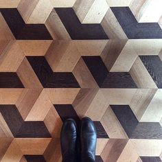 parquet floor with bold geometric design Floor Patterns, Tile Patterns, Textures Patterns, Floor Design, Tile Design, Parquetry Floor, Style Tile, Timber Flooring, Floor Rugs