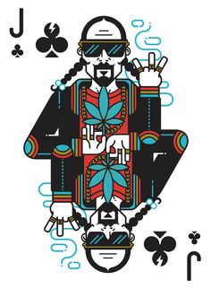 Jack of Clubs from⚡️POP STARS, the new playing card deck I've designed for the cardistry world with the most important music icons from rock, soul, reggae, punk. Complete project on Behance . Arte Dope, Dope Art, Cool Playing Cards, Playing Card Design, Character Art, Character Design, Arte Hip Hop, Rock Poster, Dope Cartoon Art