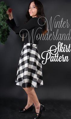 Winter Wonderland Free Skirt Pattern: Cocktail Check