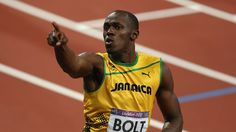Usain Bolt of Jamaica celebrates after winning gold in the men's 200m Final