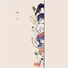 ❤❤ Sango, Miroku, Inu Yasha, Kagome, Shippô and Kirara Inuyasha Funny, Inuyasha Fan Art, Kagome And Inuyasha, Anime Love, Anime W, Anime Kawaii, Miroku, Kagome Higurashi, Kirara
