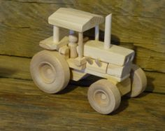Wood Toy Farm Tractor Wooden Toys Farming Toys by OutOnALimbADK