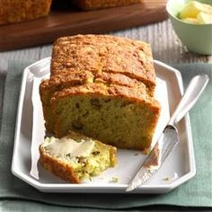 Pina Colada Zucchini Bread Recipe -At my husband's urging, I entered this recipe at the Pennsylvania Farm Show and won first place! I think you'll love the cake-like texture and tropical flavors. —Sharon Rydbom, Tipton, Pennsylvania