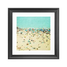 Take home an image that brings together the turquoise water, the feel of warm sand between your toes, and laid-back coastal lifestyle, where wiling away a day at the beach is perfectly acceptable and s...  Find the Beach Art Print, as seen in the #SoftSideofMidCentury Collection at http://dotandbo.com/collections/soft-side-of-mcm?utm_source=pinterest&utm_medium=organic&db_sku=SO60111