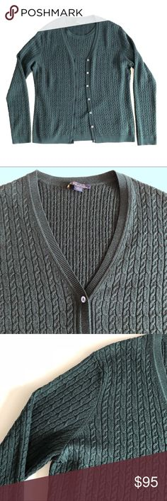 """Brooks Brothers silk cashmere cardigan set L Brooks Brothers cardigan set Size L Color green Silk 70%, cashmere 30% Cardigan : chest 38"""", length 24.5"""" Short sleeve top : chest 37"""", length 24.5"""" Both perfect condition Brooks Brothers Sweaters Cardigans"""