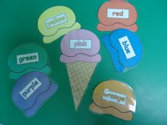 The Peanuts Gang: National Ice Cream Day!    Colors Ice Cream Cones