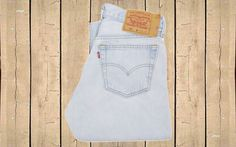 Vintage Levis 501 Denim Jeans Straight Leg Light Blue Canada W30 L32 by BlackcatsvintageUK on Etsy