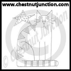 Star Cat Line Art – Chestnut Junction