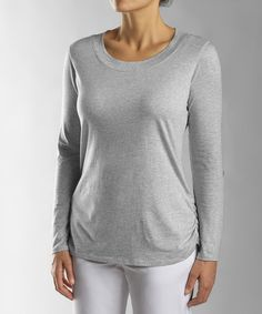 This French Gray Fellowship Three-Quarter Sleeve Tee - Women & Plus by Cutter & Buck is perfect! #zulilyfinds