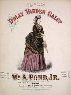 Dolly Varden dress, 1872