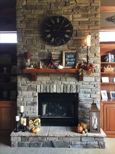 Love my fall mantel!