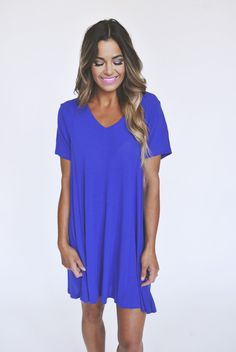 Long V Tunic - Royal - Dottie Couture Boutique