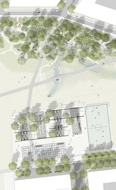 Cbd Park Beijing China Landscape Architecture by Martha Landscape Concept, Landscape Architecture Design, Architecture Graphics, Landscape Plans, Landscape Drawings, Cool Landscapes, Photoshop, Parque Linear, Planer Layout