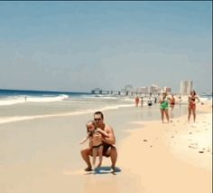 She sticks the landing like a pro! Awesome dad!