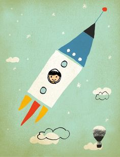 Rocket Boy, created by Artists Mara Girling and Nicholas Girling.   http://www.printspace.com.au/