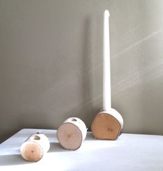 section plus taper Log Centerpieces, Christmas Ideas, Christmas Decorations, Taper Candle Holders, Project Ideas, Projects, Birch, Candles, Crafts